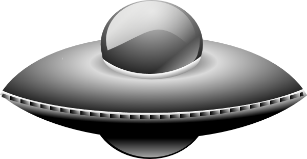 Vector ufo metal. In style editing free