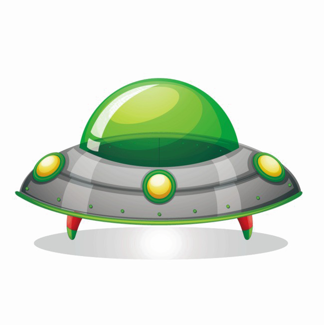 Vector ufo psd. Spacecraft png image background
