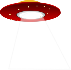Vector ufo silhouette. Clip art at clker