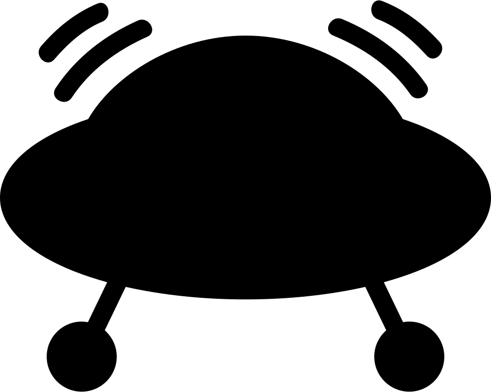Vector ufo silhouette. Svg png icon free