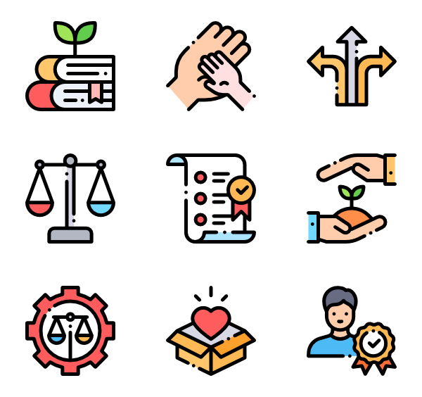 Vector unblocked illustration. Puzzle icons free ethics