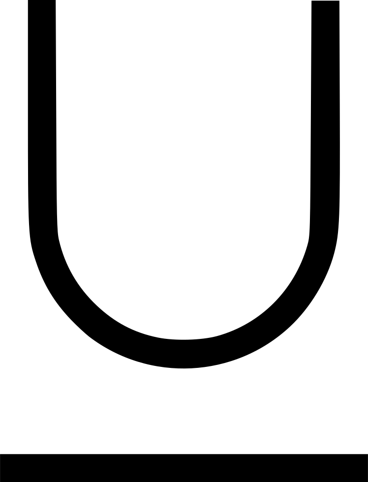 Vector underline gothic. Svg png icon free