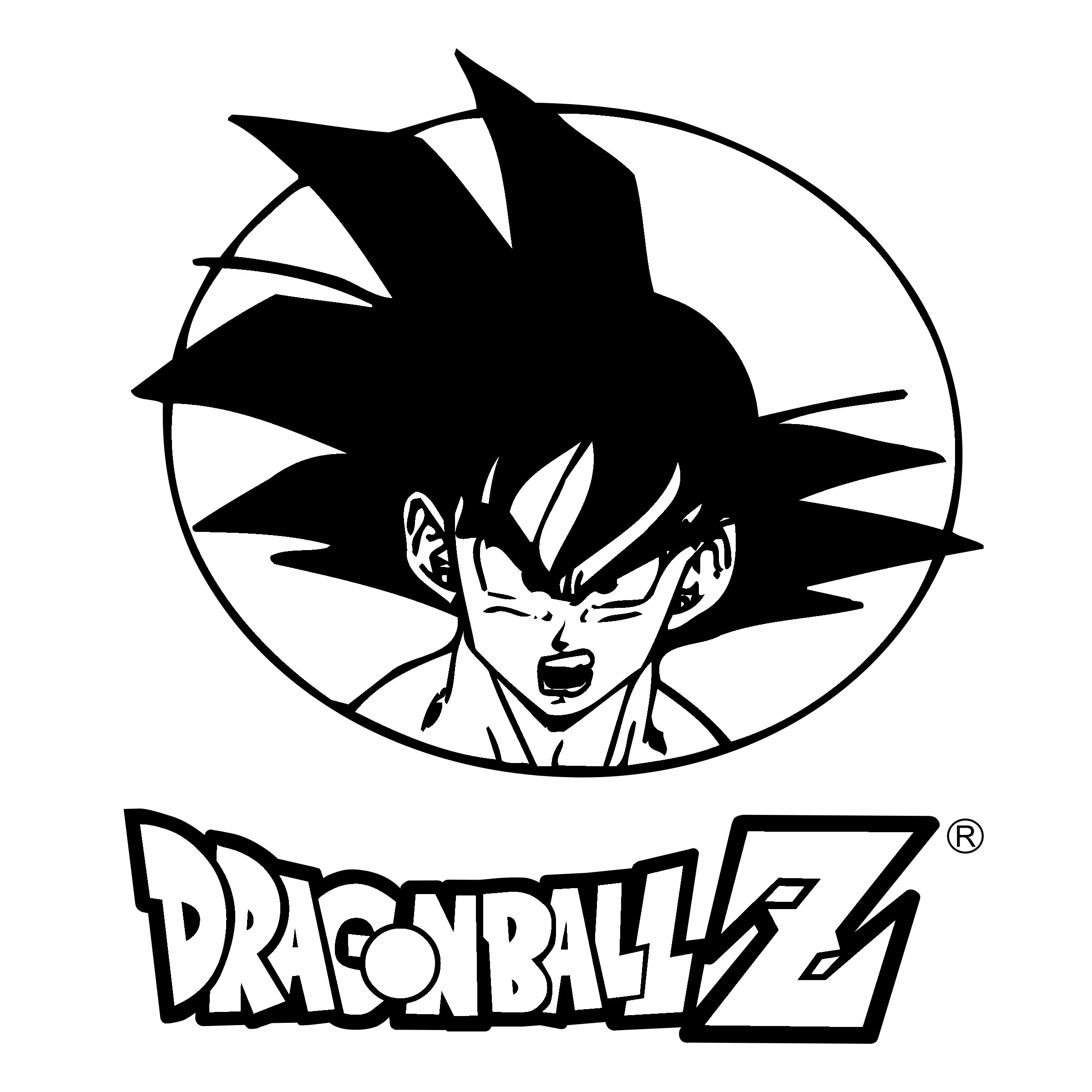 Vector z. Unique dragon ball logo