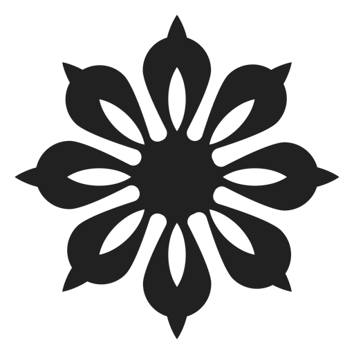 Svg design unique. Petal flower icon transparent