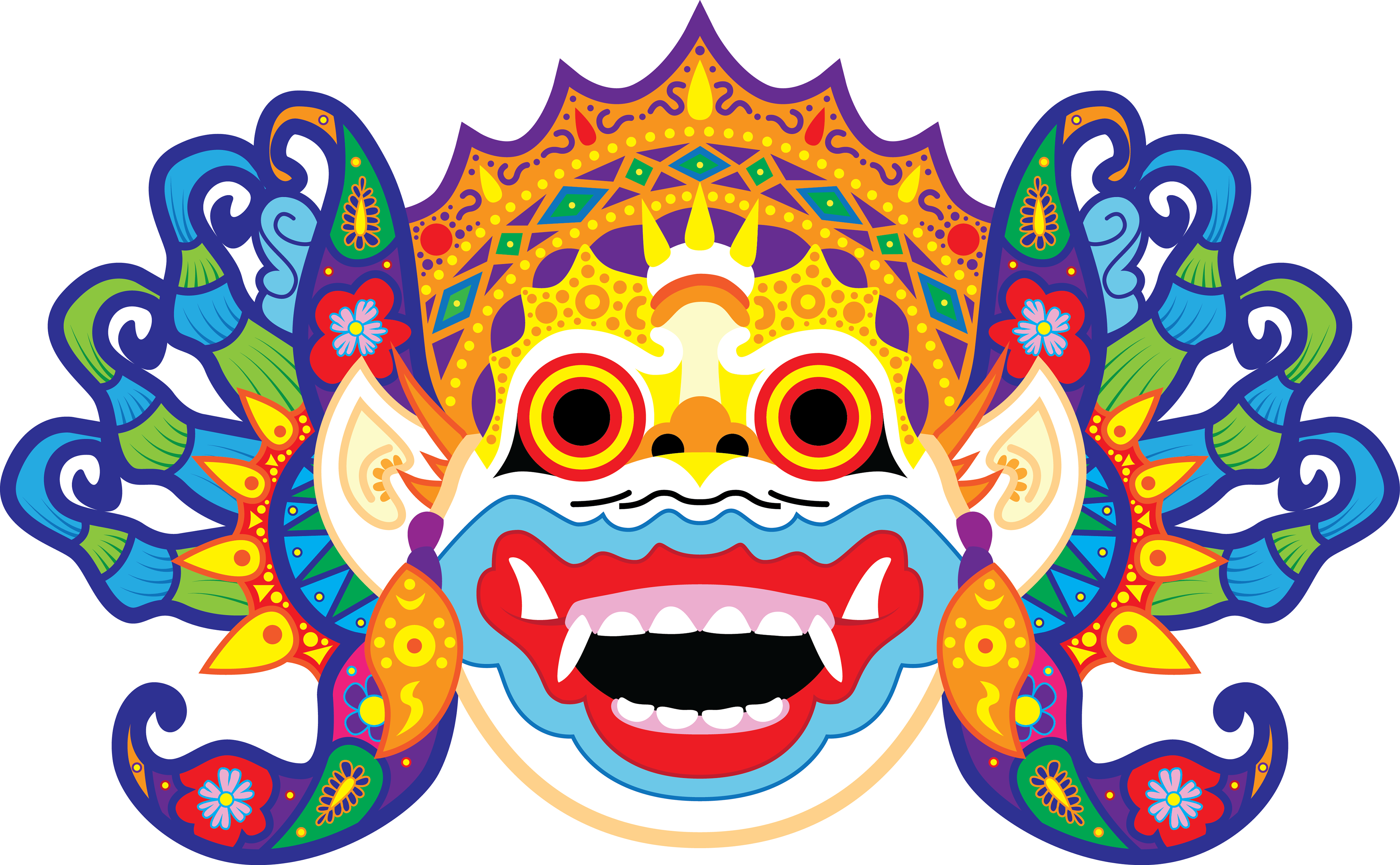 Vector unity diversity. Alexkdesigns balinese mask