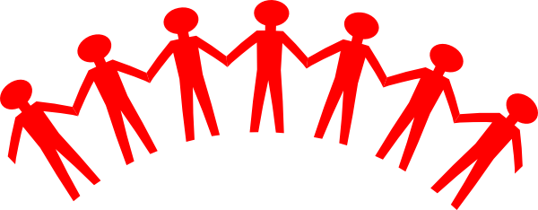 Vector unity person. Red people clip art