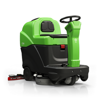 Vector vacuum floor scrubber. Integrated professional cleaning ipc
