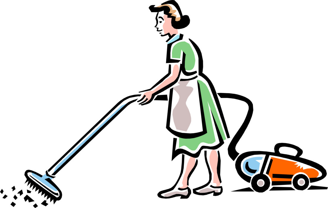 Vector vacuums vacuum clean. Cleaning service maid image