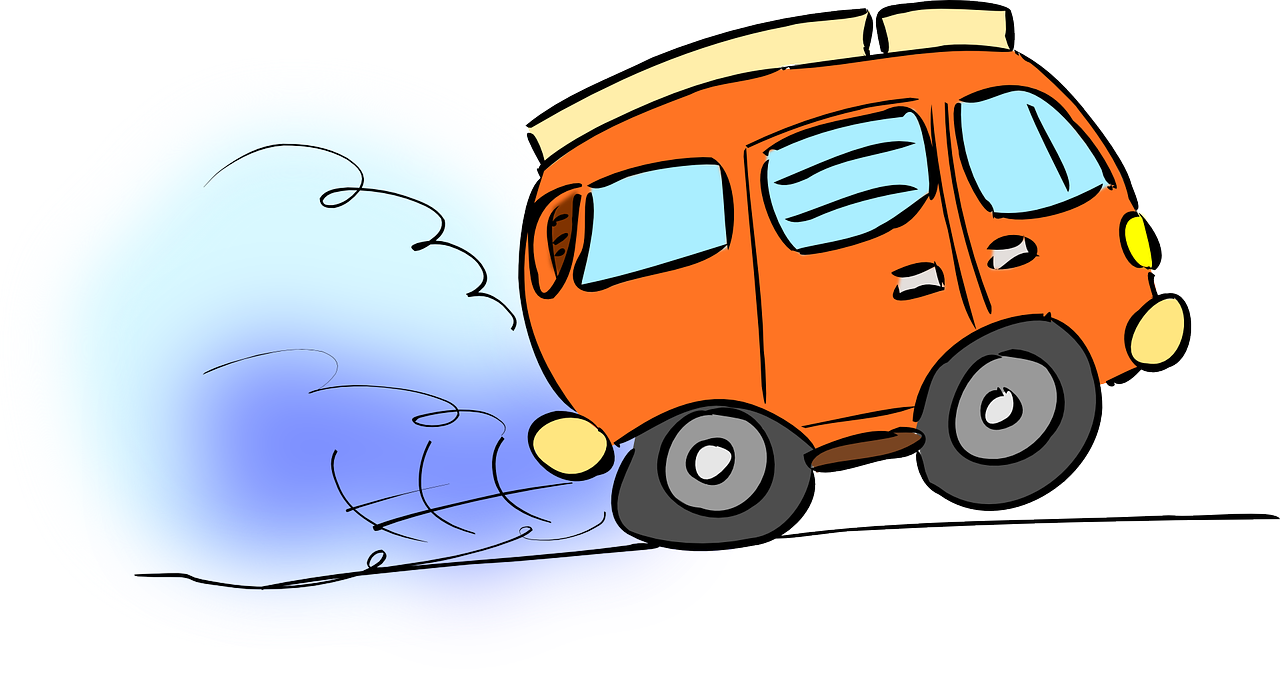 Vector van animated. Moving clip art library