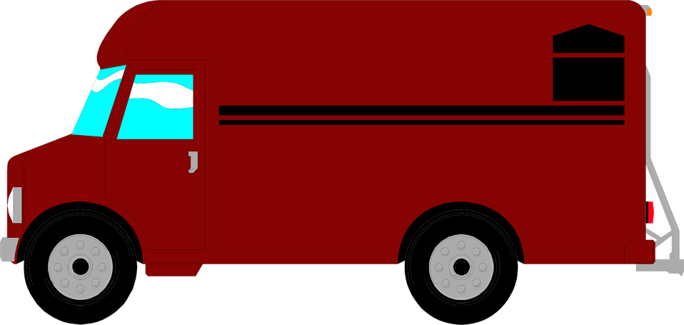 Vector van clipart. Delivery free library