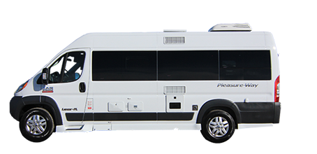 Vector van vacation. Rv rentals deluxe camper