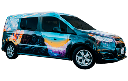 Vector van vacation. Campervan rentals escape campervans