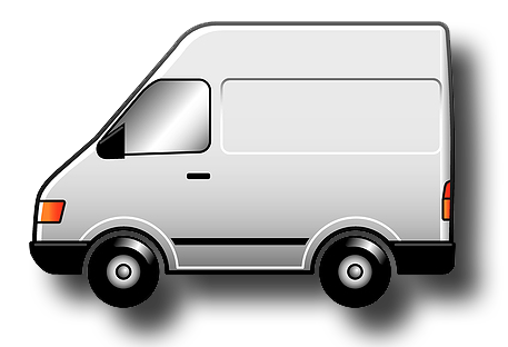 Vector van white. Delivery free library