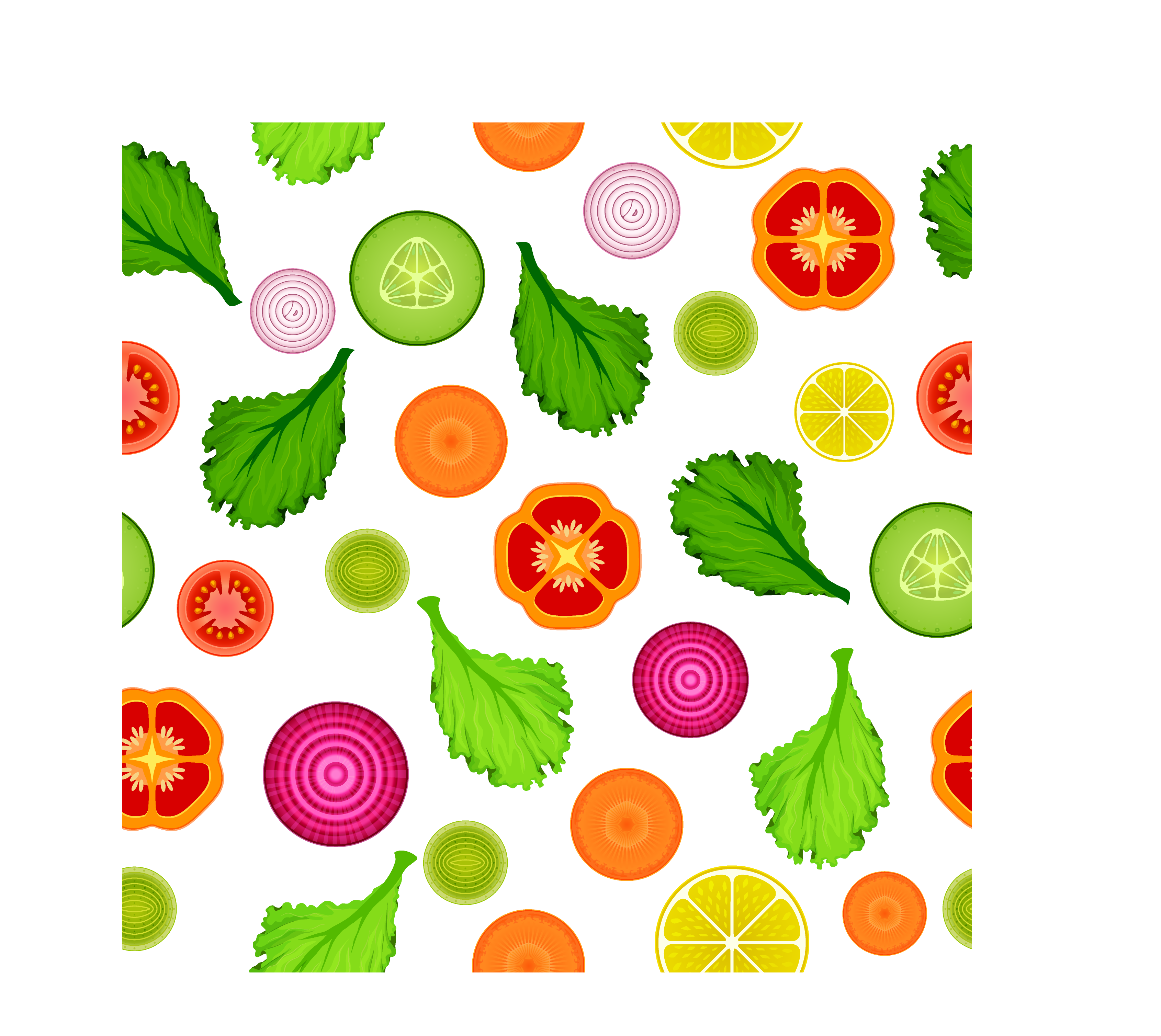 Vector vegetables background. Onion ring vegetable clip