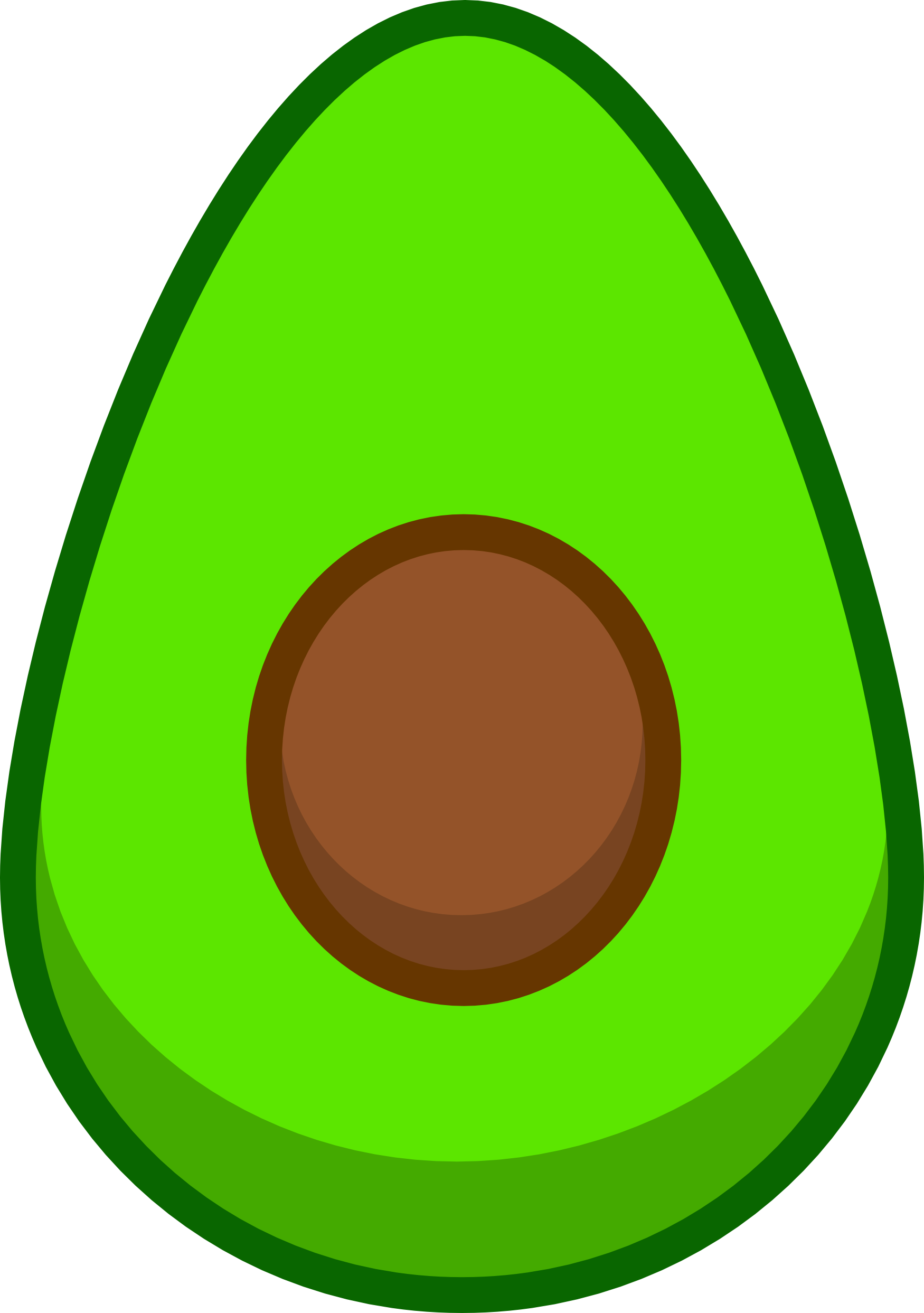 Vector vegetables illustrator. Cute avocado design for