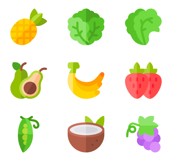 Vector vegetables name. Vegetable and fruit