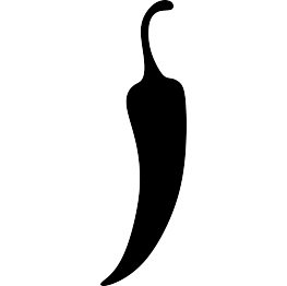 Vector vegetables silhouette. Vegetable silhouettes chili pepper