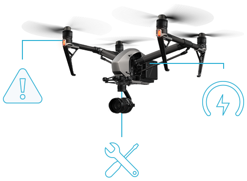 Vector viewer drone. Data management and flight