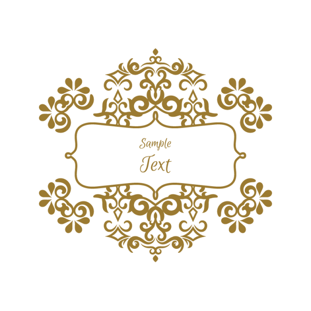 Marcos vintage png. Ornament greeting card vector