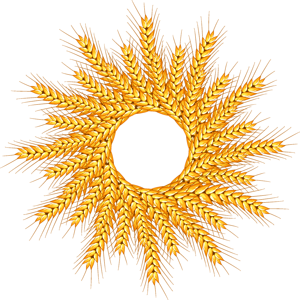 Vector wheat ring. Logo transprent png free