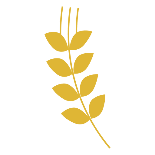Vector wheat single. Yellow sihouette transparent png