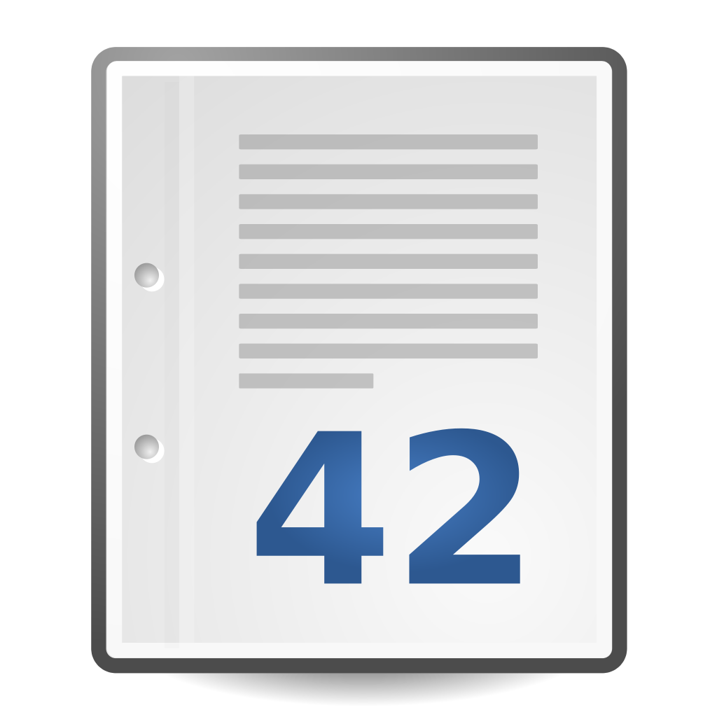 Vector wikipedia icon. File text document with