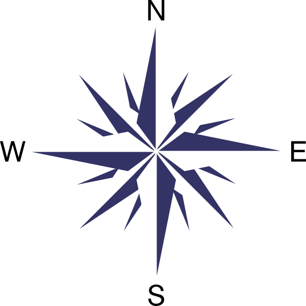 Vector wind direction. Compass rose clip art