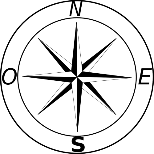 Vector wind east north. Free photos compass rose