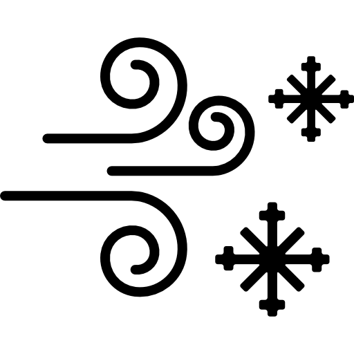 Vector wind snowy. Snow and free weather