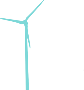 Vector windmill clipart. More teal wind turbine