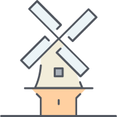 Vector windmill netherlands. Holland png icon repo