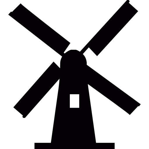 Vector windmill holland. Netherlands free monuments icons