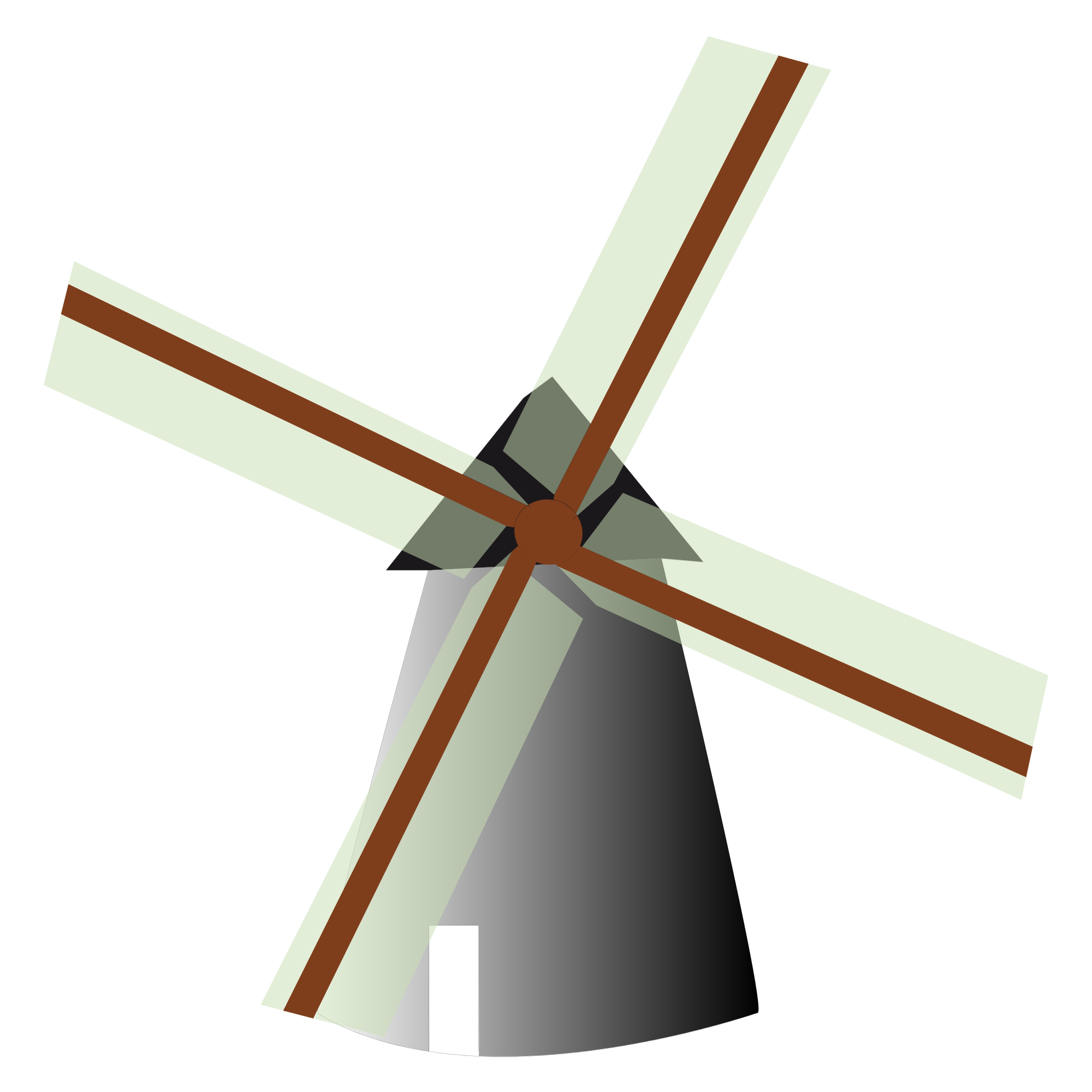 Vector windmill netherlands. File world landmarks icons