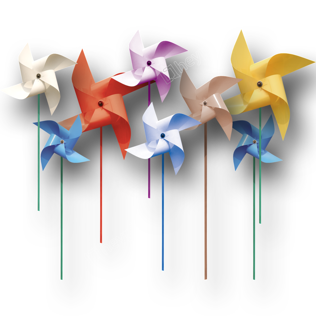 Vector windmill origami. Beautiful color png free