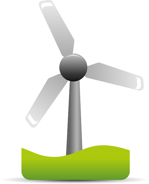 Vector windmill solar panel. Photo by openclipart vectors