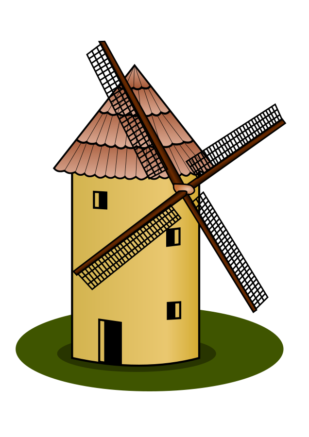 Vector windmill old. Free pictures images download