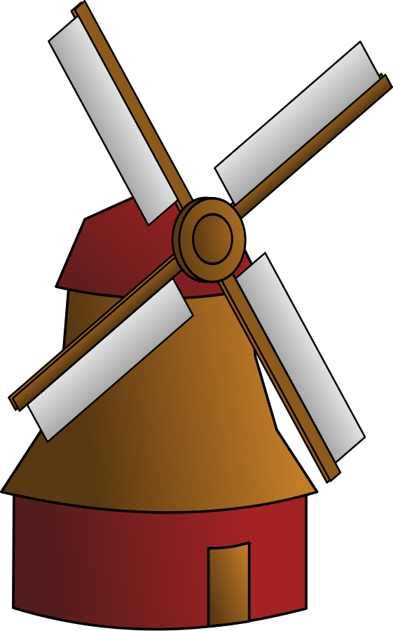 Vector windmill line drawing. Free pictures images download