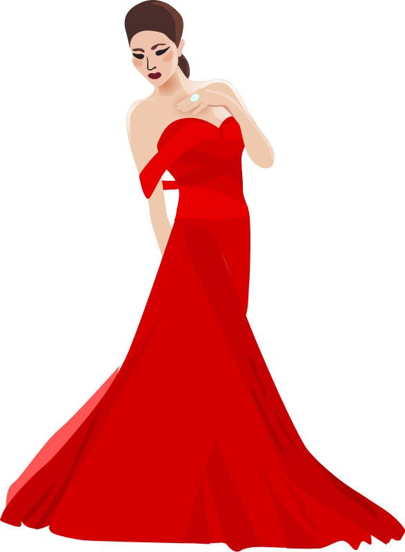 Vector women formal. Chinese woman by dear
