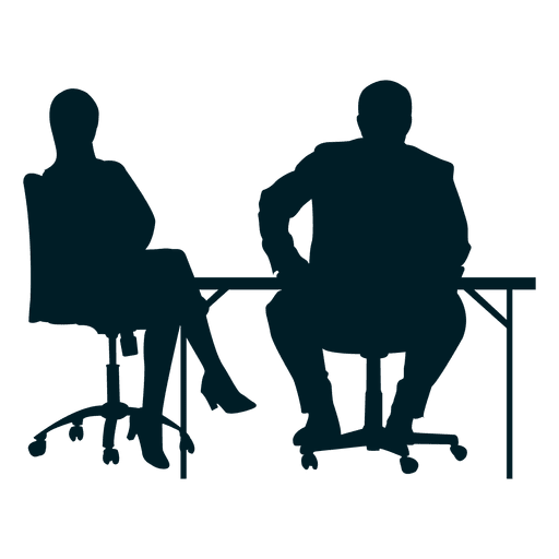 Colleagues on desk transparent. Vector working clipart free stock