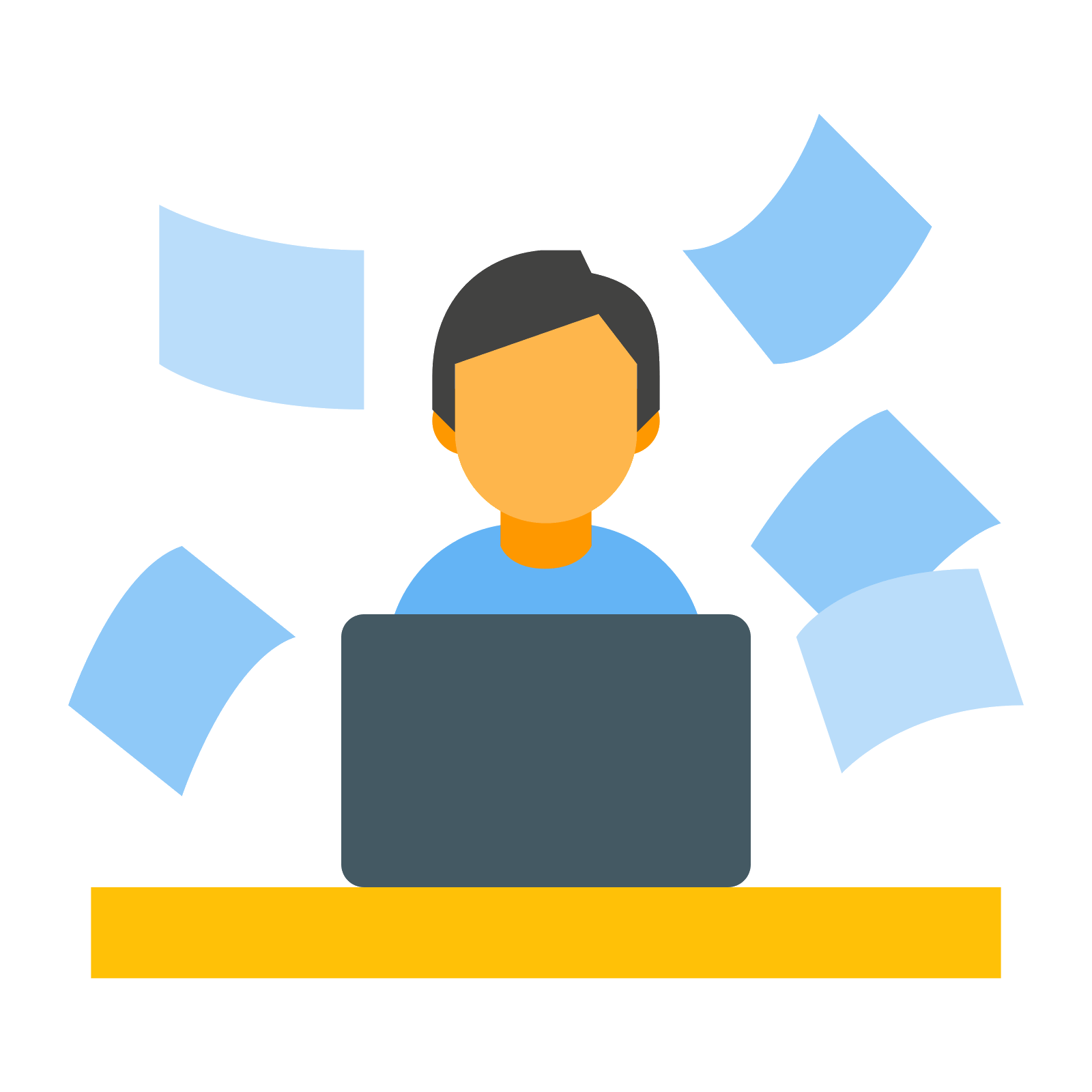 Hard working icon free. Job vector flat design png transparent download