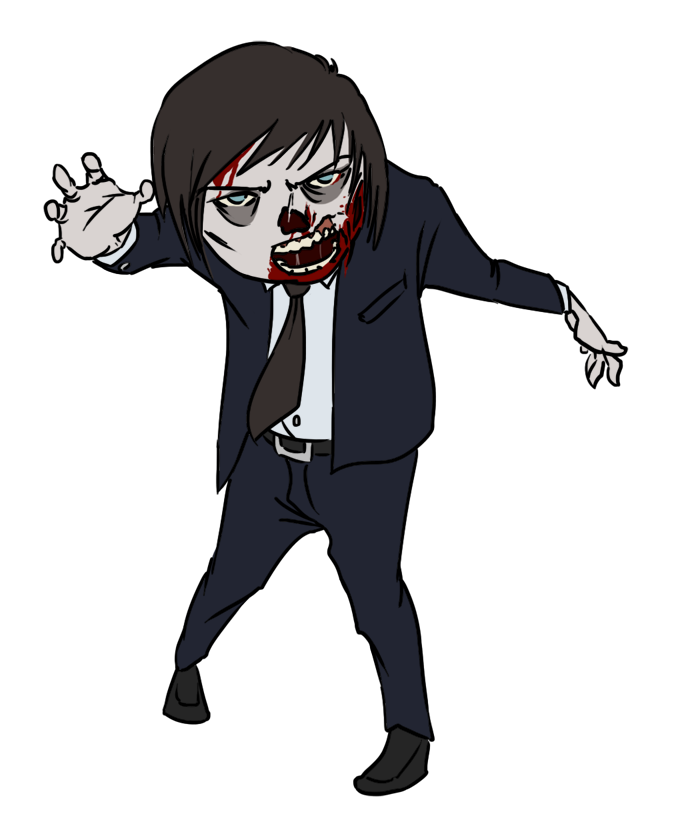 Vector zombie. Clip art graphics image