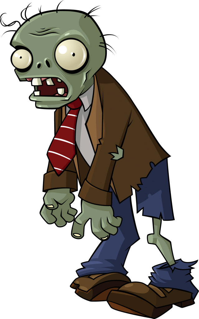 Vector zombie character. Png download image clipart