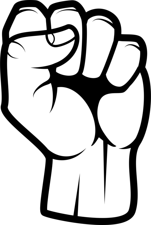 Vector zombie fist. Collection of free boxing