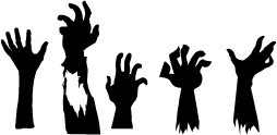 Vector zombie hands. Silhouette bedroom pinterest silhouettes