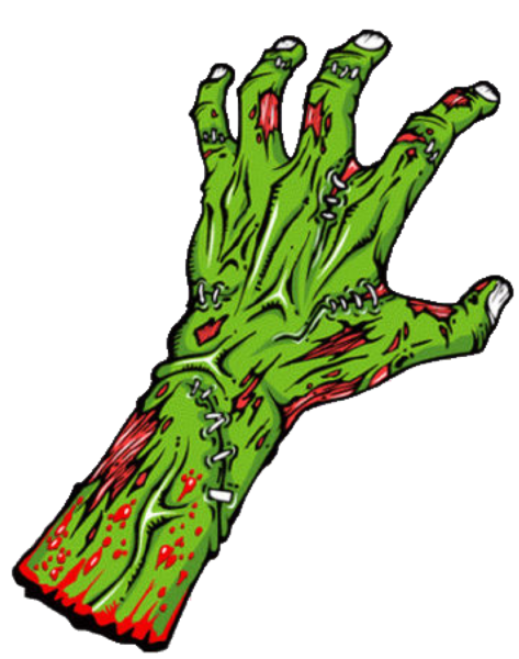 Vector zombie hands. Hand cut free images