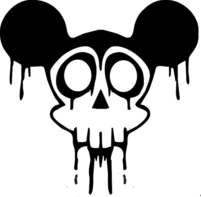 Vector zombie mickey mouse. Free image on pixabay