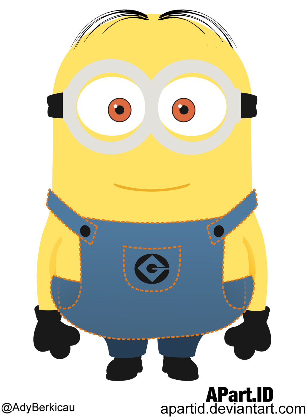 Vector zombie minion. Despicable me by apartid