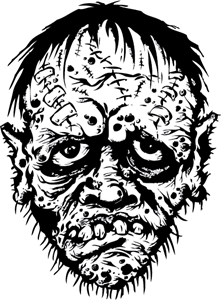 Vector zombie mouth. Drawing at getdrawings com