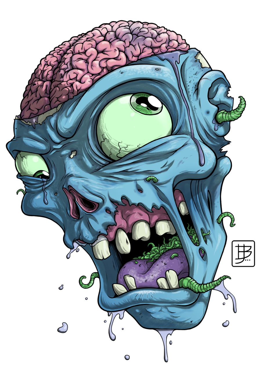 Vector zombie mouth. Head google search zombi