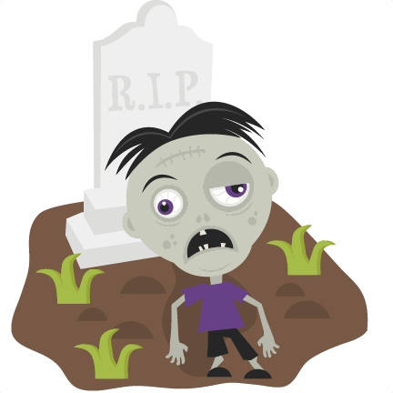 Vector zombie svg. In cemetery cutting files